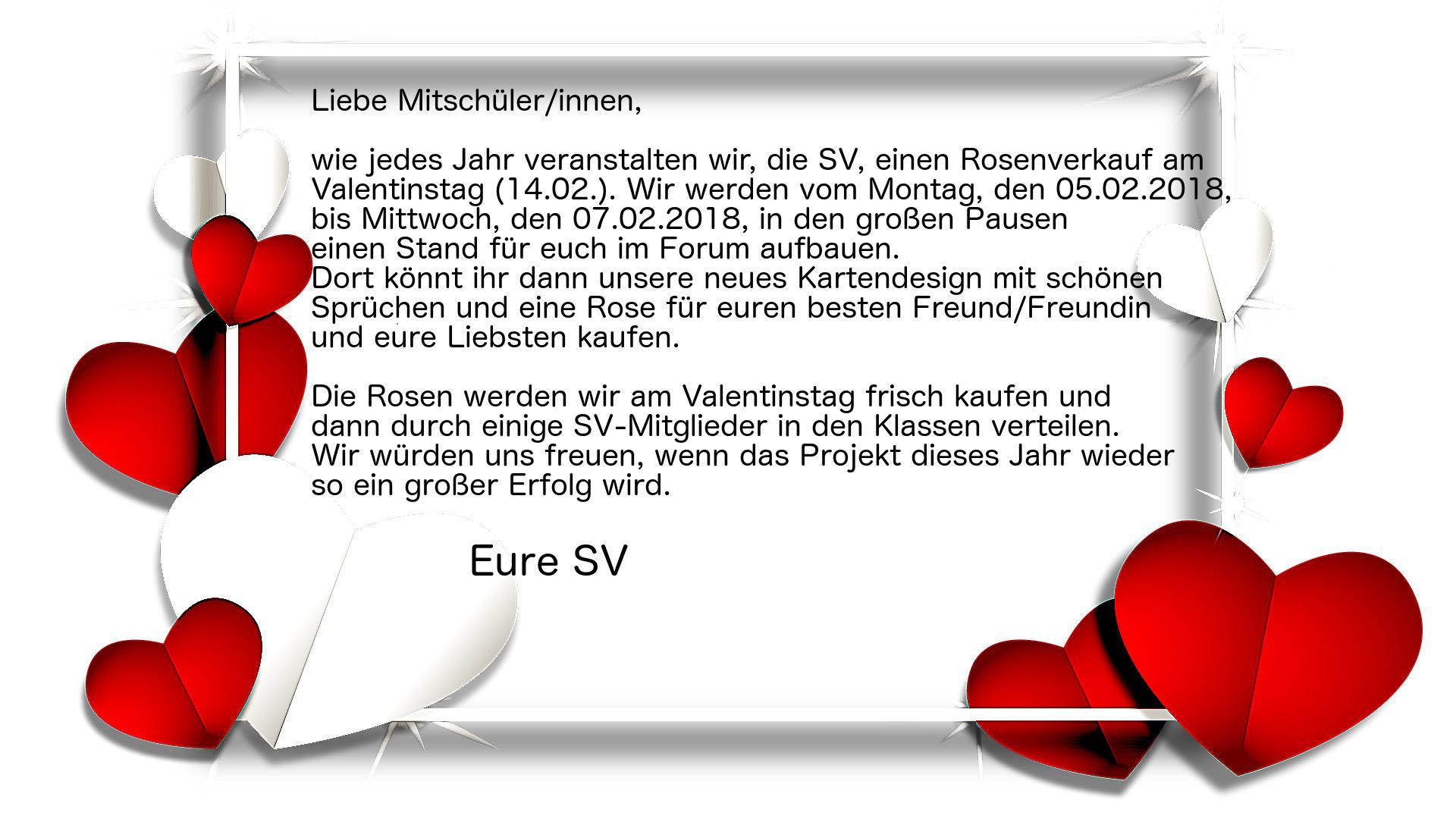 Ausgezeichnet Sie Regel Valentinstag Vorlage Galerie - Beispiel ...